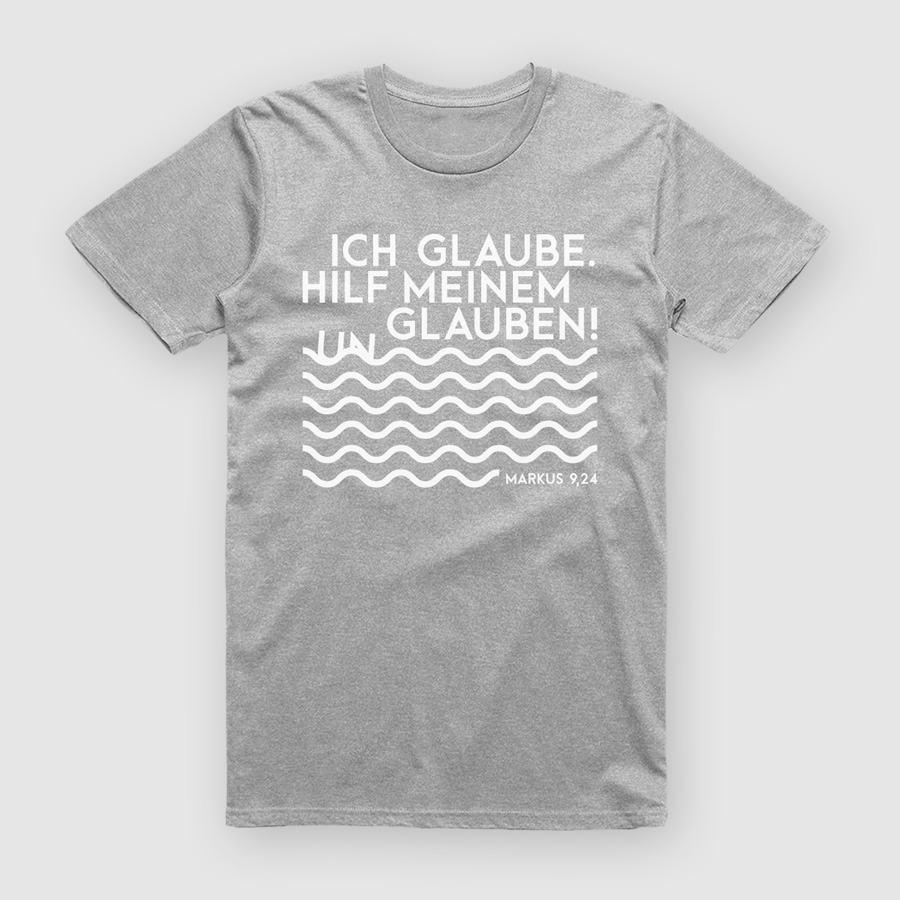 T-Shirt grau zur Jahreslosung 2020
